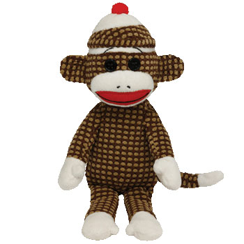 SOCK MONKEY (quilted, brown)