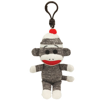 SOCK MONKEY (gray) Key-clip