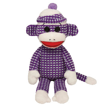 SOCK MONKEY (quilted, purple)